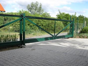 Samonosná bezkolejnicová brána